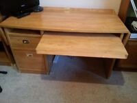 Gautier Desk, Drawer and Bookcase set - quality French home office furniture perfect condition