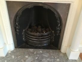Metal fire place grate and surround