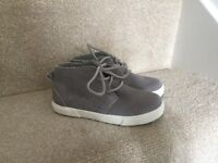 Next grey boys boots toddler size 8 brand new