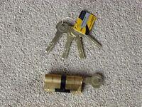 30/30 Brass YALE Superior High Security uPVC Composite Door Barrel Profile Lock with 5 keys