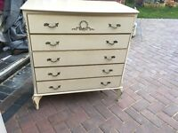 A louis wardrobe made by Jarrod Platt furniture maker to Harrods and 2 chest of drawers