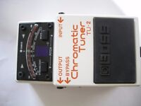 BOSS by Roland TU-2 Chromatic Tuner stompbox/ pedal/effects unit for electric guitar- Taiwan-