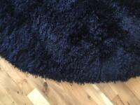 Black circle rug
