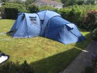 Vango Colorado colarado 800 dlx dome tent 8 berth camping Glasgow