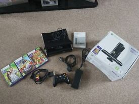 Xbox 360 kinect special edition 250gb, with 3 kinect games