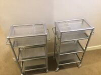 Ikea Grundtal Kitchen Trolleys x2
