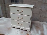 Small Bedsite cabinet - white paint