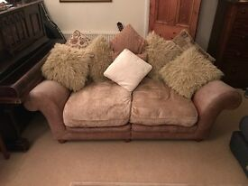 Beige sofa with pillows great condition- need gone