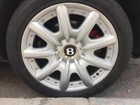 "GENUINE OEM 19"" ALLOY WHEELS BENTLEY CONTINENTAL GT MULLINER Alloys with Tyres"