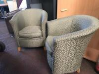 2 Tub Chairs Matching Set