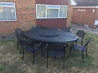 BRAMBLECREST 9 SEATER TABLE AND CHAIRS