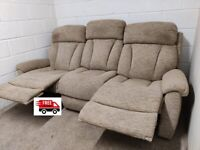 3 seater fabric sofa (delivered free)