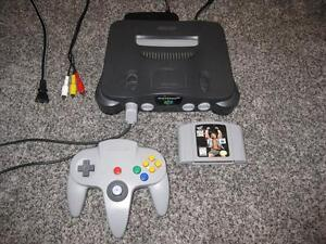 NINTENDO 64 N64 SYSTEM + WWF WARZONE 100% TESTED AND WORKING