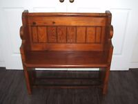 Victorian Small Pitch Pine Church Pew (1862)