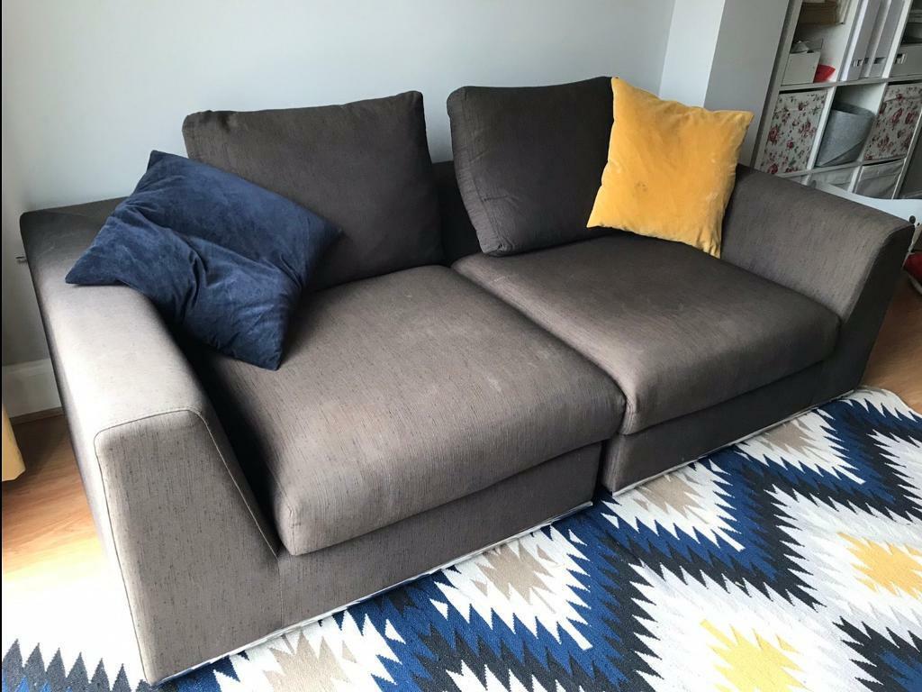 Astonishing Dwell Brown Grey Sofa From Ls17 In Alwoodley West Yorkshire Gumtree Inzonedesignstudio Interior Chair Design Inzonedesignstudiocom
