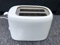 £1.. White two slice toaster