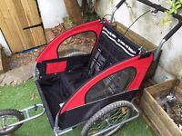 Kids double bike / cycle trailer and buggy
