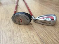 2 slazenger junior golf clubs. Hybrid 3/4 and 7 iron