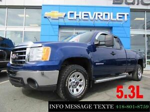 2013 GMC SIERRA 1500 4WD EXTENDED CAB LWB 5.3L BOITE 8 PIEDS