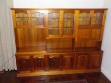 Tasmanian Blackwood Wall Unit with Bar and TV Swivel Glen Iris Boroondara Area Preview