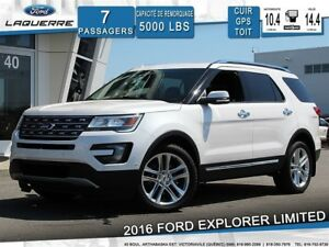 2016 Ford Explorer LIMITED**7 PLACES*AWD*CUIR*GPS*CAMERA*BLUETOO