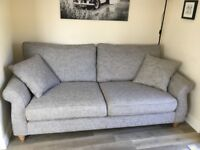 Next Ashford Boulce Weave Large 3 Seater Sofa - Excellent condition