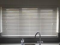 Venetian blind -wood white