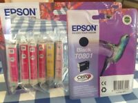 7 x Genuine Epson Inks for Epson Stylus Printers
