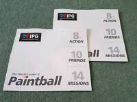 16 IPG paintball tickets + 2k free paintballs