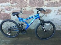 """Brand New"" Boys Muddyfox 24"" Typhoon dual suspension bike"