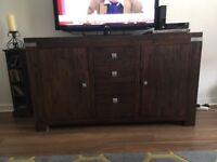 Large Dark Wood Sideboard