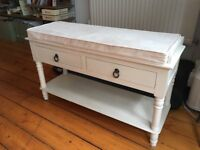 Bench Seat with Drawers.