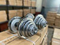 50kg Chrome Barbell and Dumbbells Set: BRAND NEW