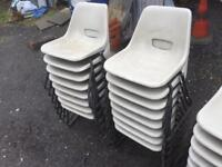23 x plastic stacking chairs