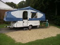 2005 PENNINE STERLING FOLDING CAMPER WITH MATCHING AWNING (SIX BERTH)