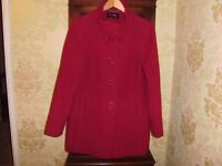 Planet red coat. Size 14