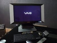 "Sony Vaio All In One PC. WIFI Keyboard/Mouse/ Remote 21"" Superwide screen Top End PC BARGAIN £100."