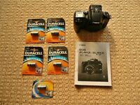 Canon EOS 33 Elan 7 E SLR 35mm Film Camera Body + 5 X 3V Lithium CR17345 Batteries & Instructions