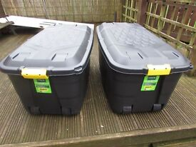 TWO BRAND NEW 145L STORAGE TRUNKS WERE PURCHASED AND NEVER USED