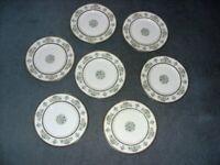 "Minton ""Henley"" dinner Plates x7 10.5"" diameter good condition"