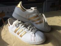 Adidas Superstars UK10 - ONLY WORN ONCE!