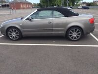 Very Low Mileage Audi Convertible with V 6 3 liter engine in excellent condition