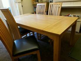 Ash table with 4 chairs
