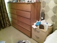 2 Chest of drawers and sidebed drawer for sale