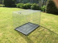 Extra large dog crate in galvanised steel, hardly used