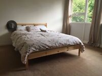 Double bed/Frame/ IKEA/ Wooden.