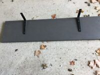 Grey shelf with brackets very sturdy and strong £10 can deliver