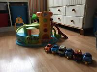 ELC Early Learning Whizz Around Baby garage with cars