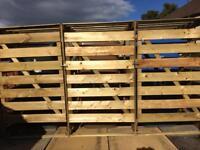 Wheelie bin wooden storage shed