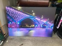 Large wall canvas - 'The Peace Bridge'